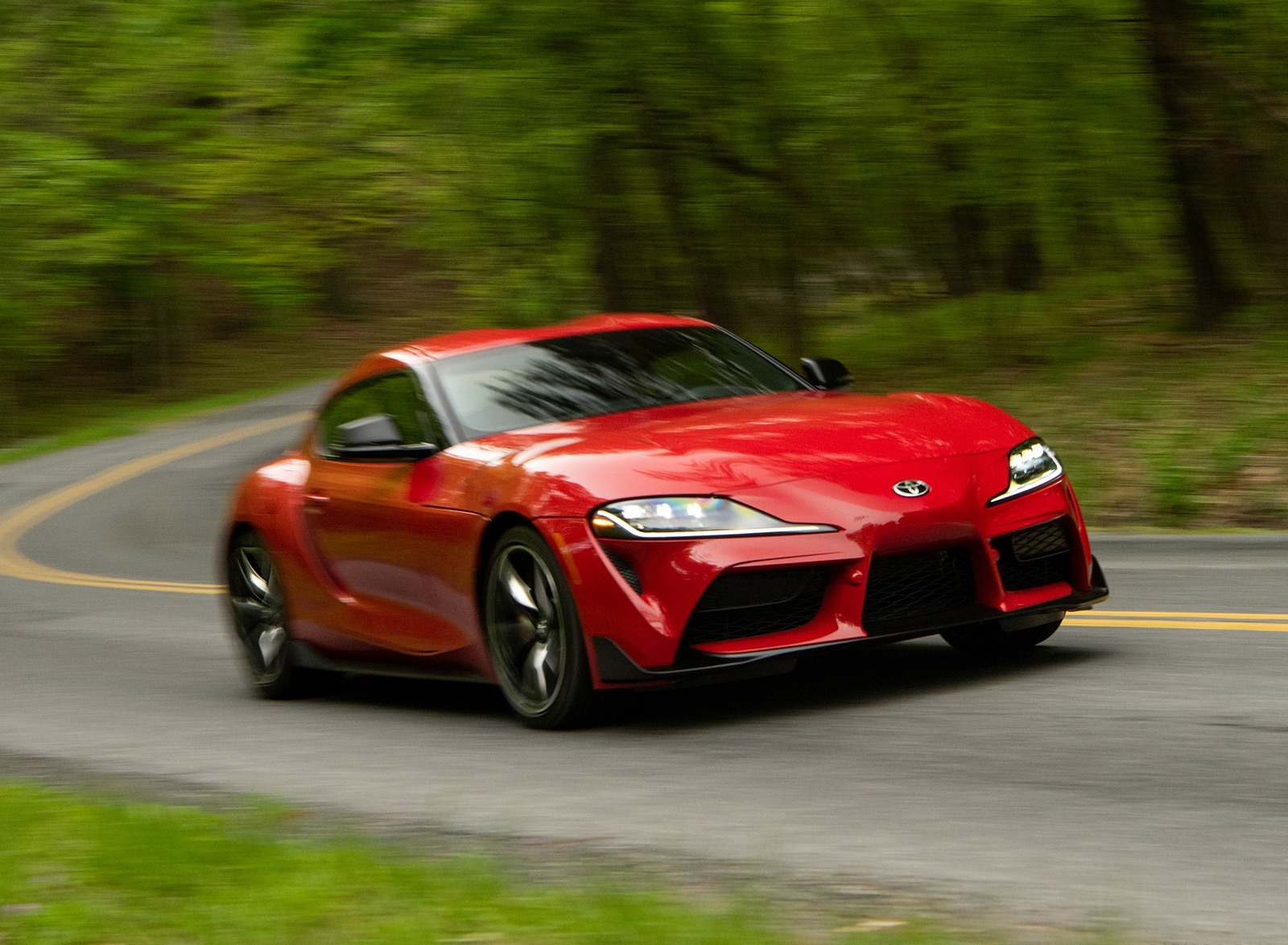 2020 Toyota Supra (Color: Renaissance Red) Front Three-Quarter Wallpapers (8)