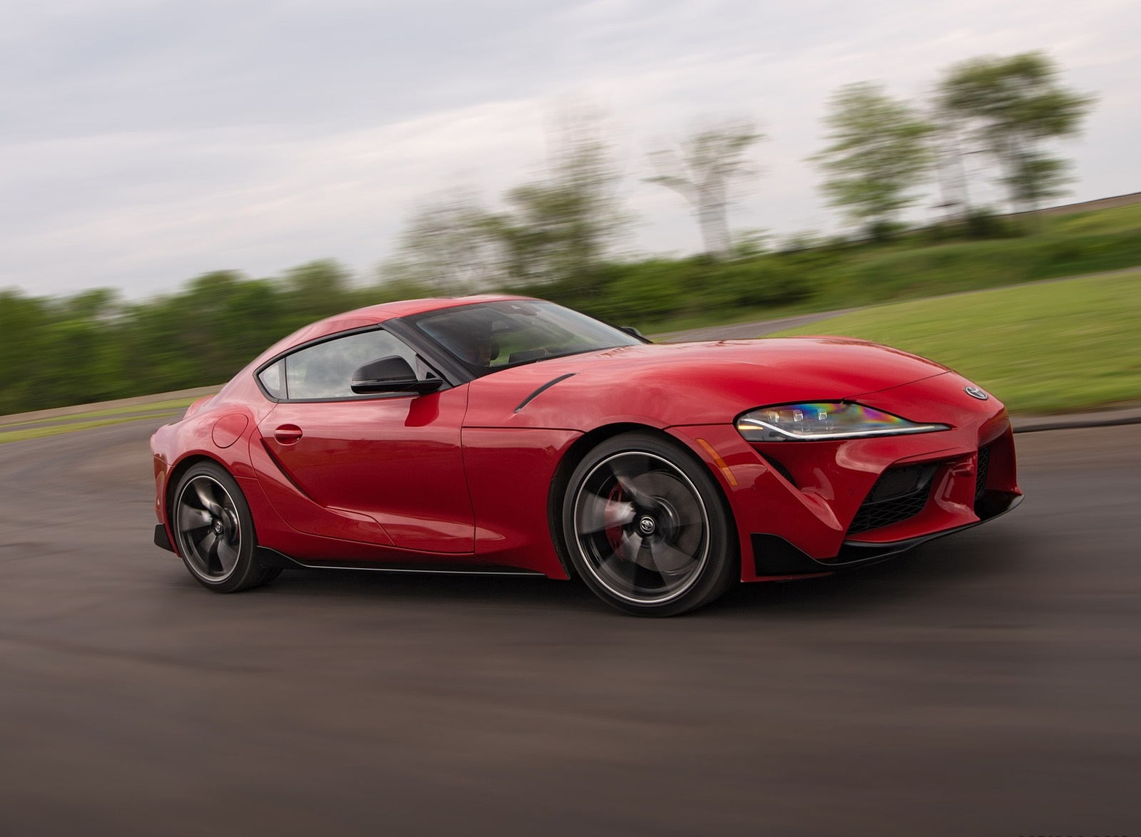 2020 Toyota Supra (Color: Renaissance Red) Front Three-Quarter Wallpapers (3)
