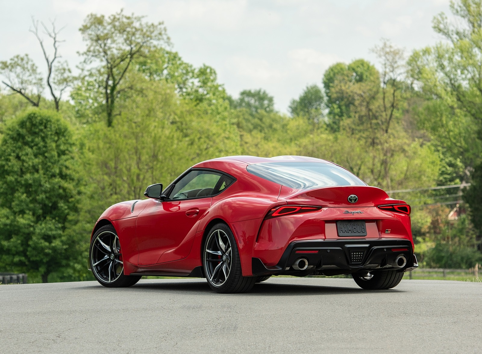 2020 Toyota Supra (Color: Renaissance Red) Rear Three-Quarter Wallpapers (9)