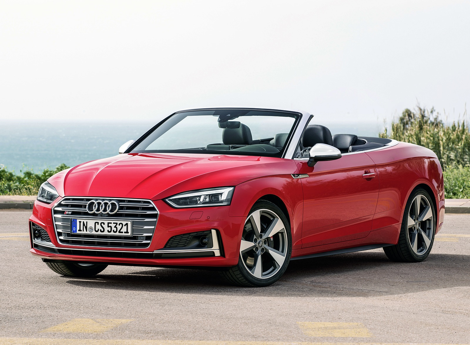 2018 Audi S5 Cabriolet (Color: Misano Red) Front Three-Quarter Wallpaper (11)