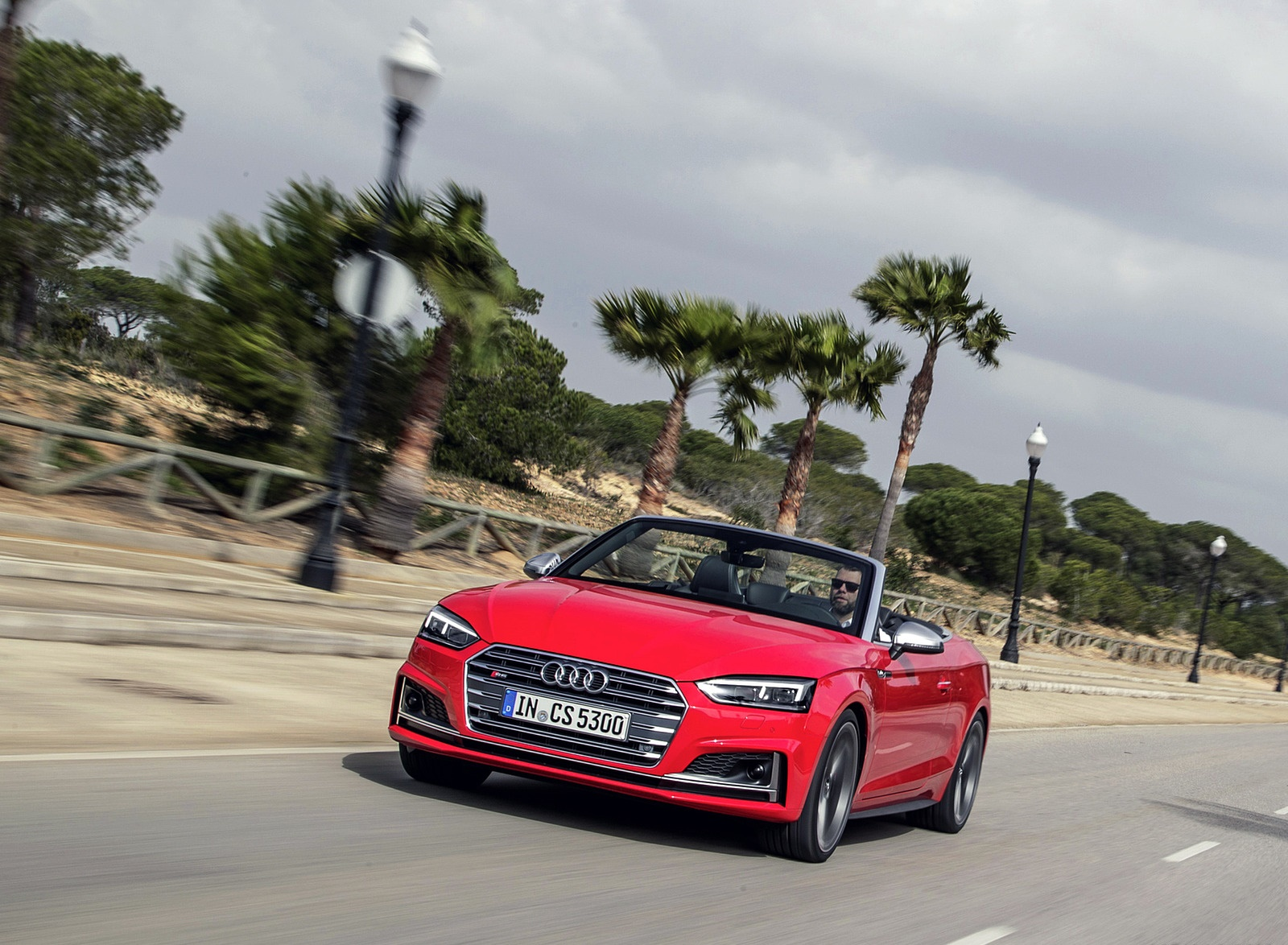 2018 Audi S5 Cabriolet (Color: Misano Red) Front Wallpaper (6)