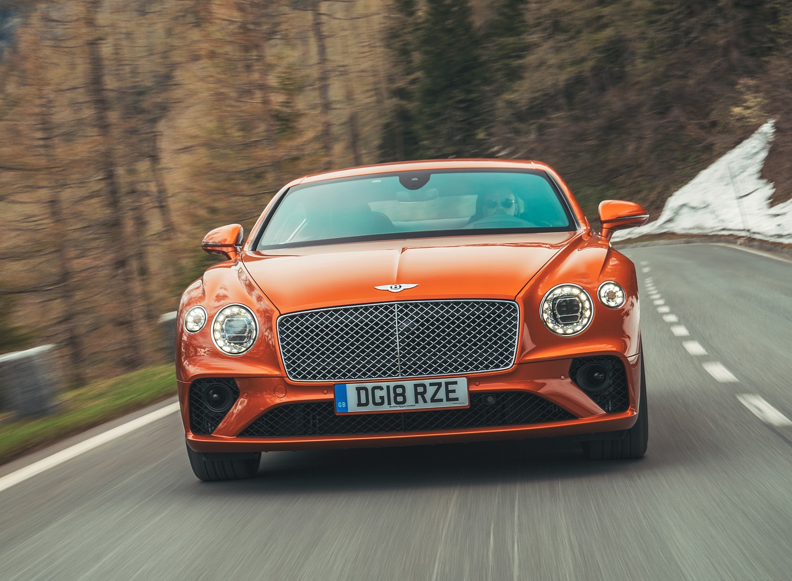 2018 Bentley Continental GT (Color: Orange Flame) Front Wallpapers (7)