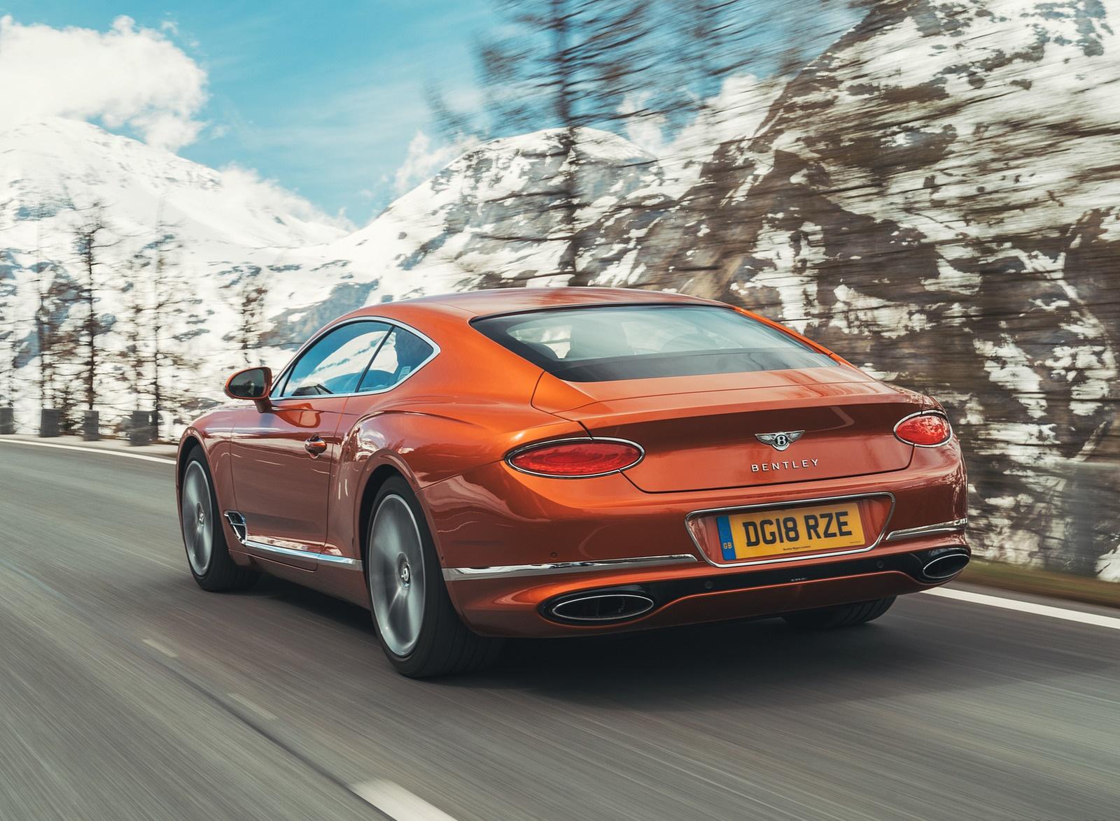 2018 Bentley Continental GT (Color: Orange Flame) Rear Three-Quarter Wallpapers (9)