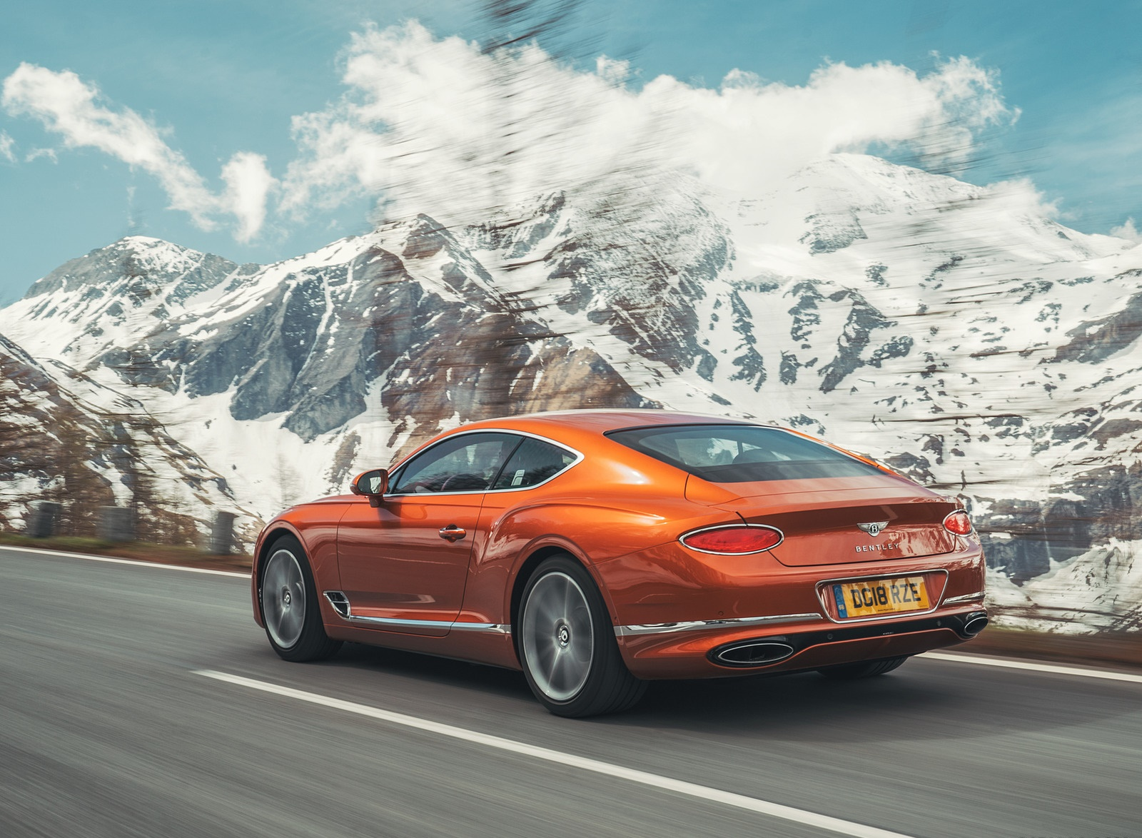 2018 Bentley Continental GT (Color: Orange Flame) Rear Three-Quarter Wallpapers (10)