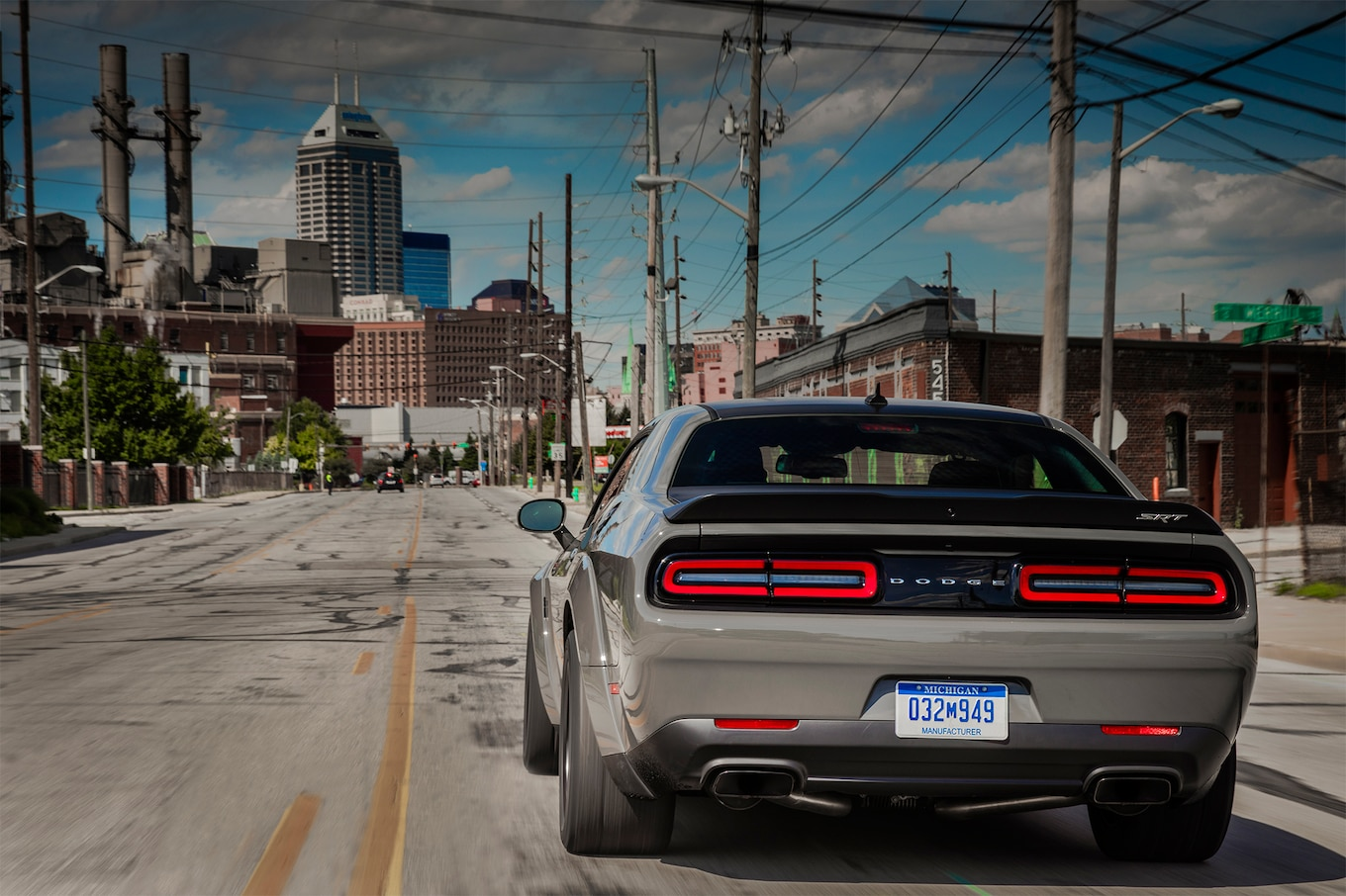 2018 Dodge Challenger SRT Demon Rear Wallpapers (12)