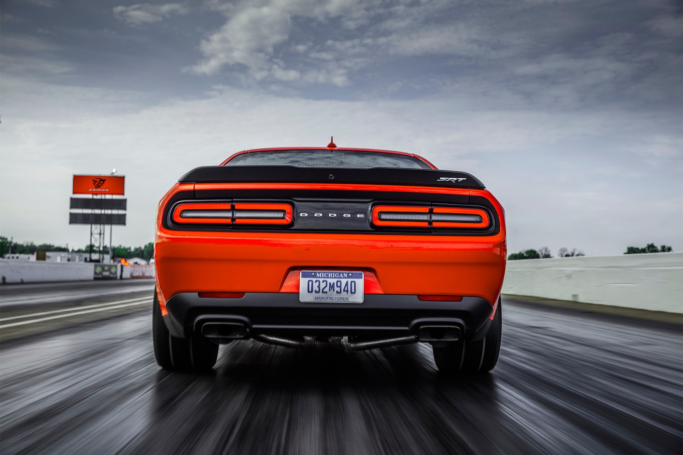 2018 Dodge Challenger SRT Demon Rear Wallpapers (5)
