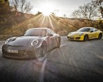 2018 Porsche 911 GT3 with Touring Package and 911 Carrera T Front Three-Quarter Wallpapers 150x120 (3)