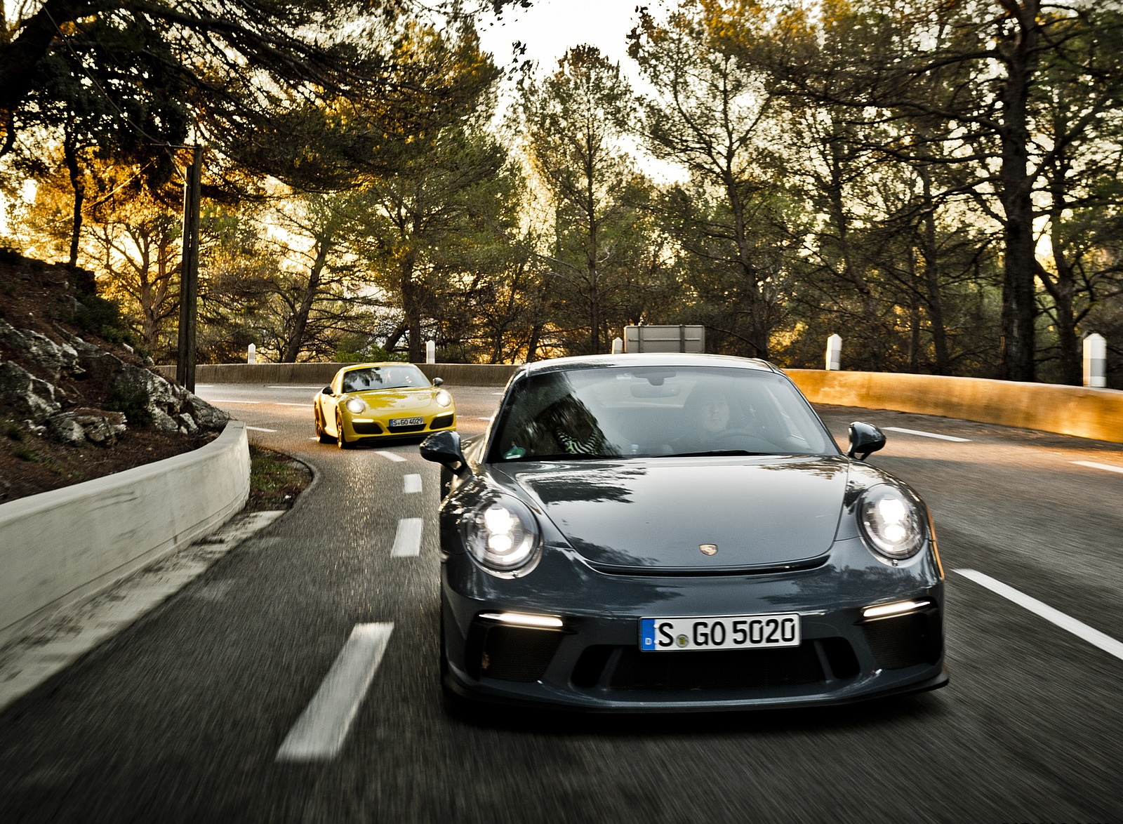 2018 Porsche 911 GT3 with Touring Package and 911 Carrera T Front Wallpapers (7)
