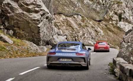 2018 Porsche 911 GT3 with Touring Package and 911 Carrera T Rear Wallpaper 450x275 (27)