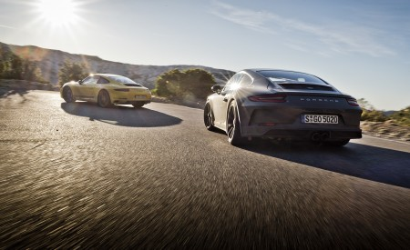 2018 Porsche 911 GT3 with Touring Package and 911 Carrera T Rear Wallpaper 450x275 (4)