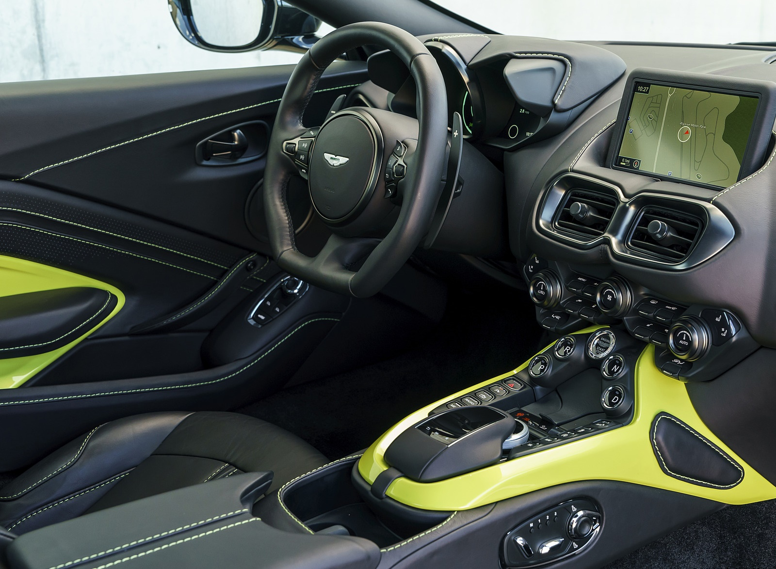 2019 Aston Martin Vantage Onyx Black Interior Cockpit Wallpapers 112 Newcarcars