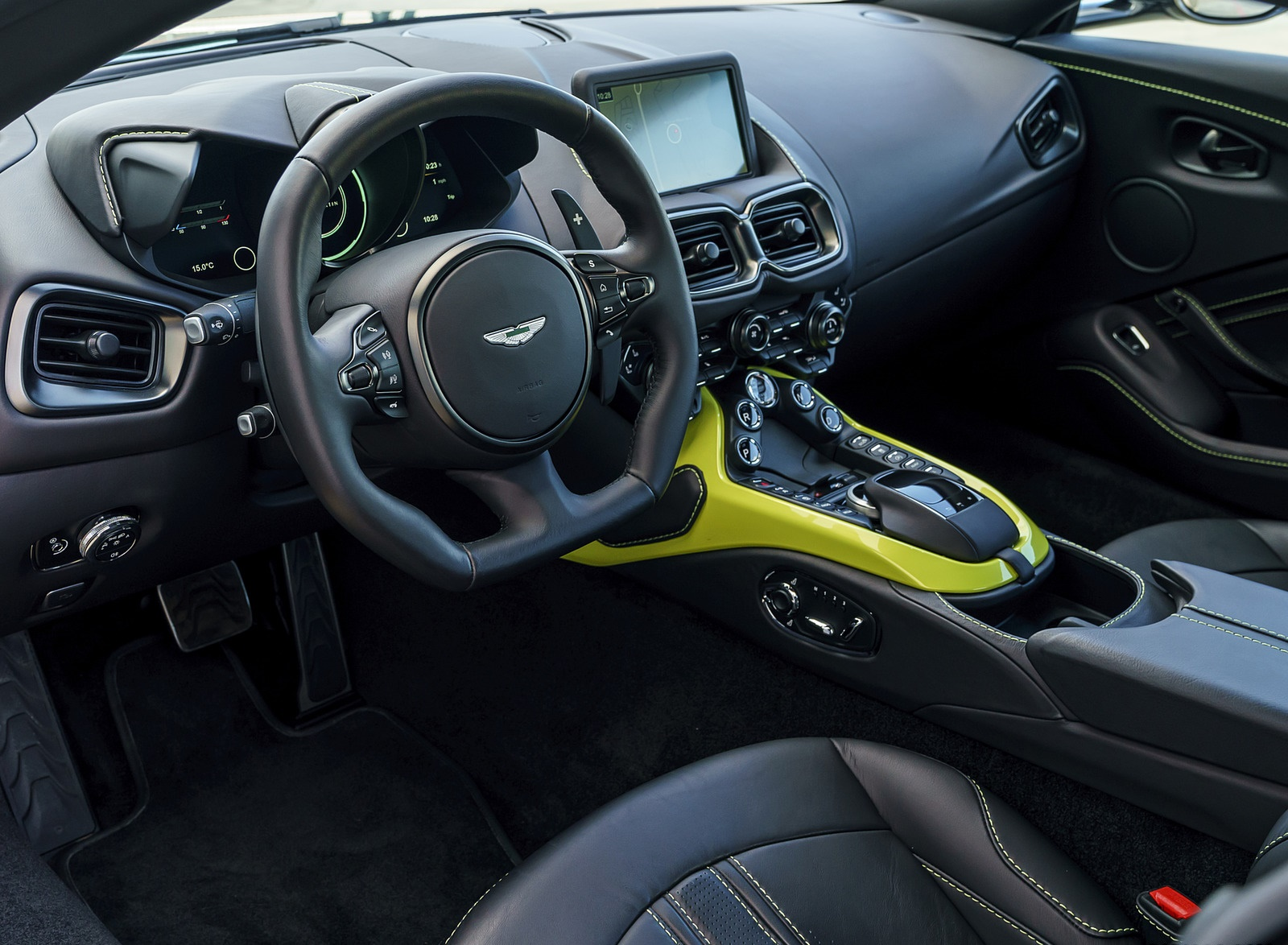 2019 Aston Martin Vantage Onyx Black Interior Steering Wheel Wallpapers 115 Newcarcars