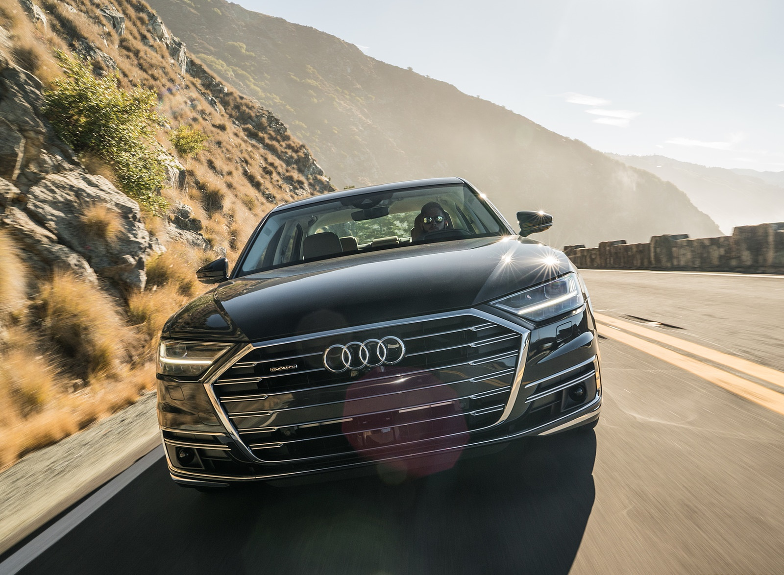 2019 Audi A8 (US-Spec) Front Wallpapers (1)