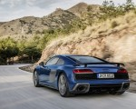 2019 Audi R8 (Color: Ascari Blue Metallic) Rear Three-Quarter Wallpaper 150x120 (3)