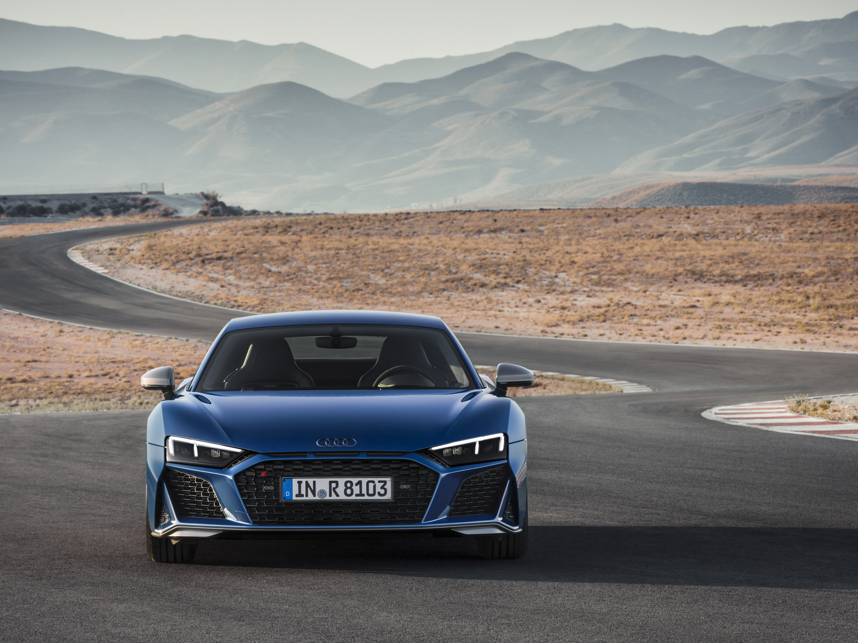 2019 Audi R8 Coupe (Color: Ascari Blue Metallic) Front Wallpaper (8)