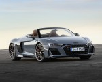 2019 Audi R8 Spyder (Color: Kemora Gray Metallic) Front Three-Quarter Wallpaper 150x120 (35)