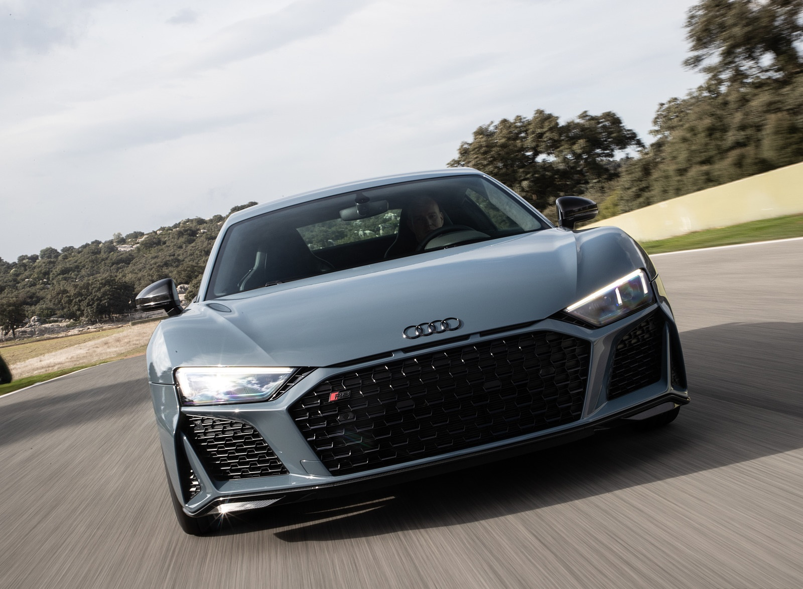 2019 Audi R8 V10 Coupe (Color: Kemora Gray Metallic) Front Wallpaper (11)