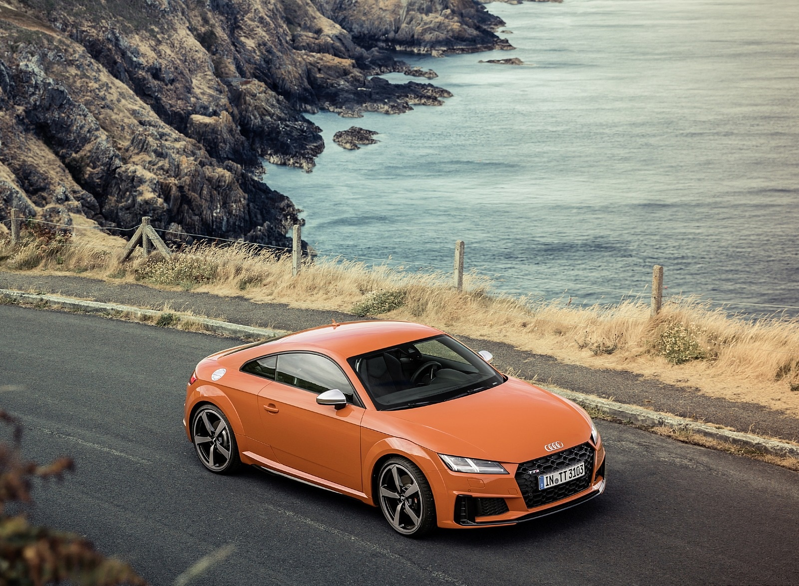 2019 Audi TTS Coupe (Color: Pulse Orange) Front Three-Quarter Wallpaper (12)
