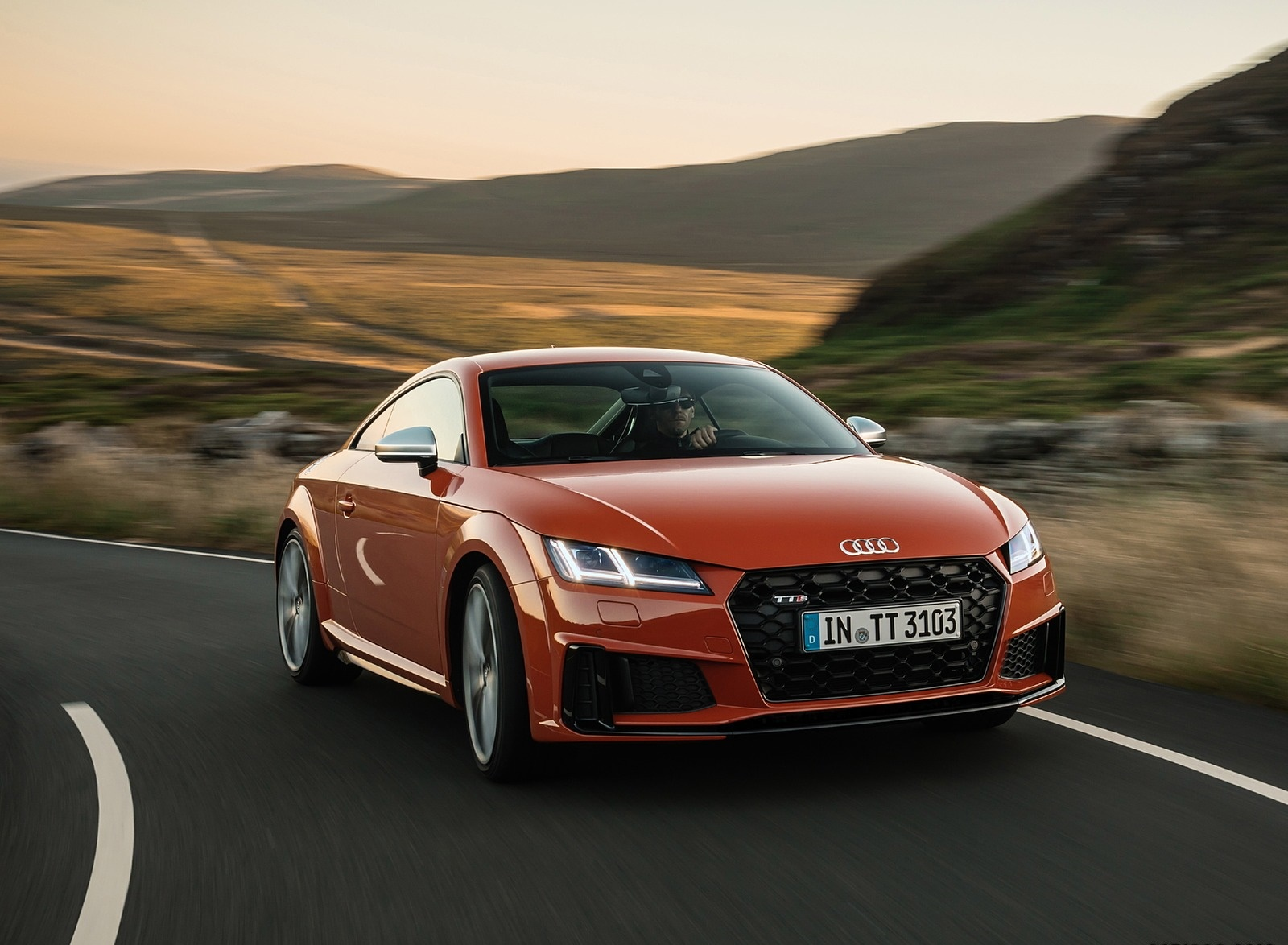 2019 Audi TTS Coupe (Color: Pulse Orange) Front Three-Quarter Wallpapers (8)