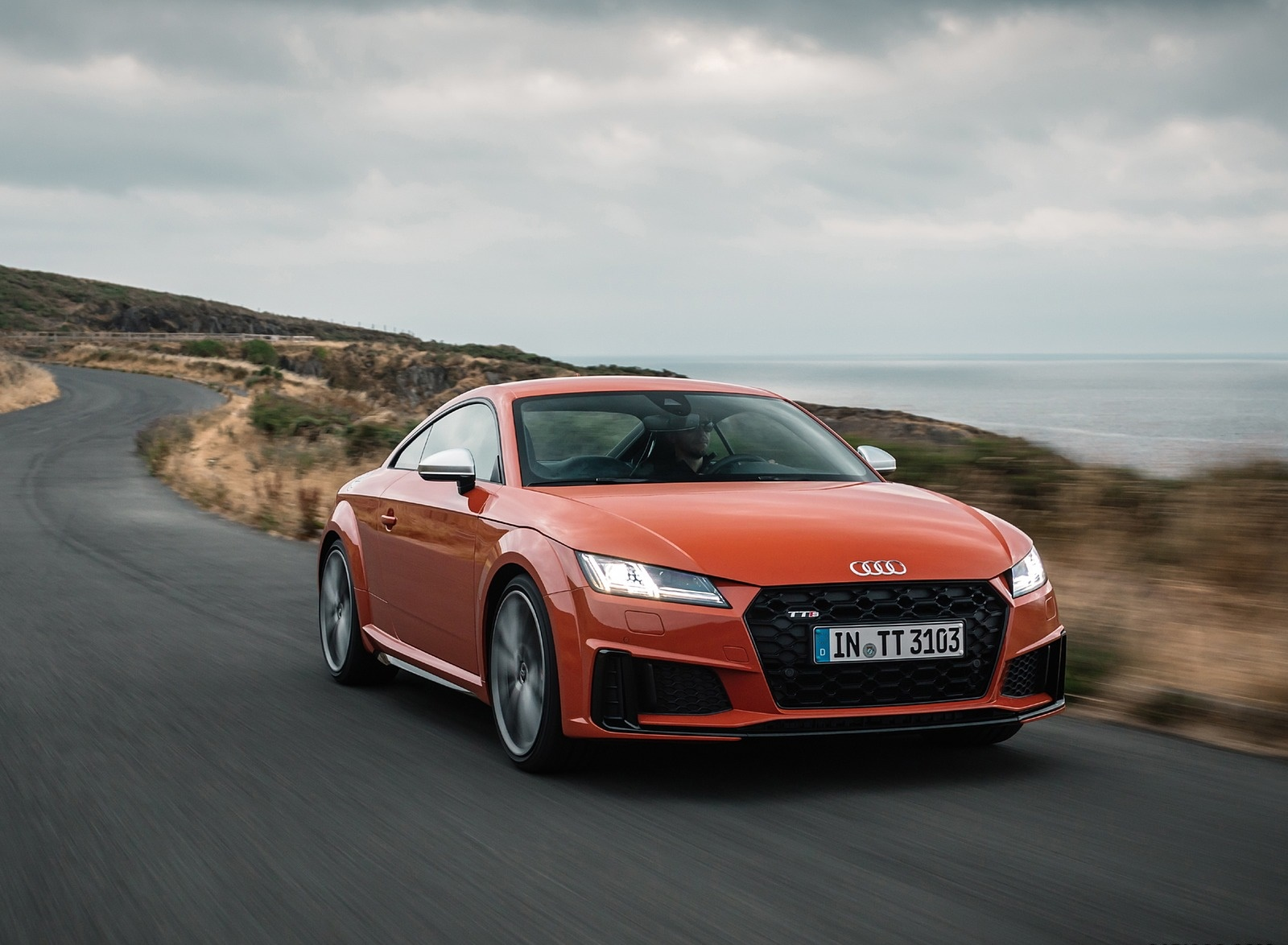 2019 Audi TTS Coupe (Color: Pulse Orange) Front Wallpapers (9)