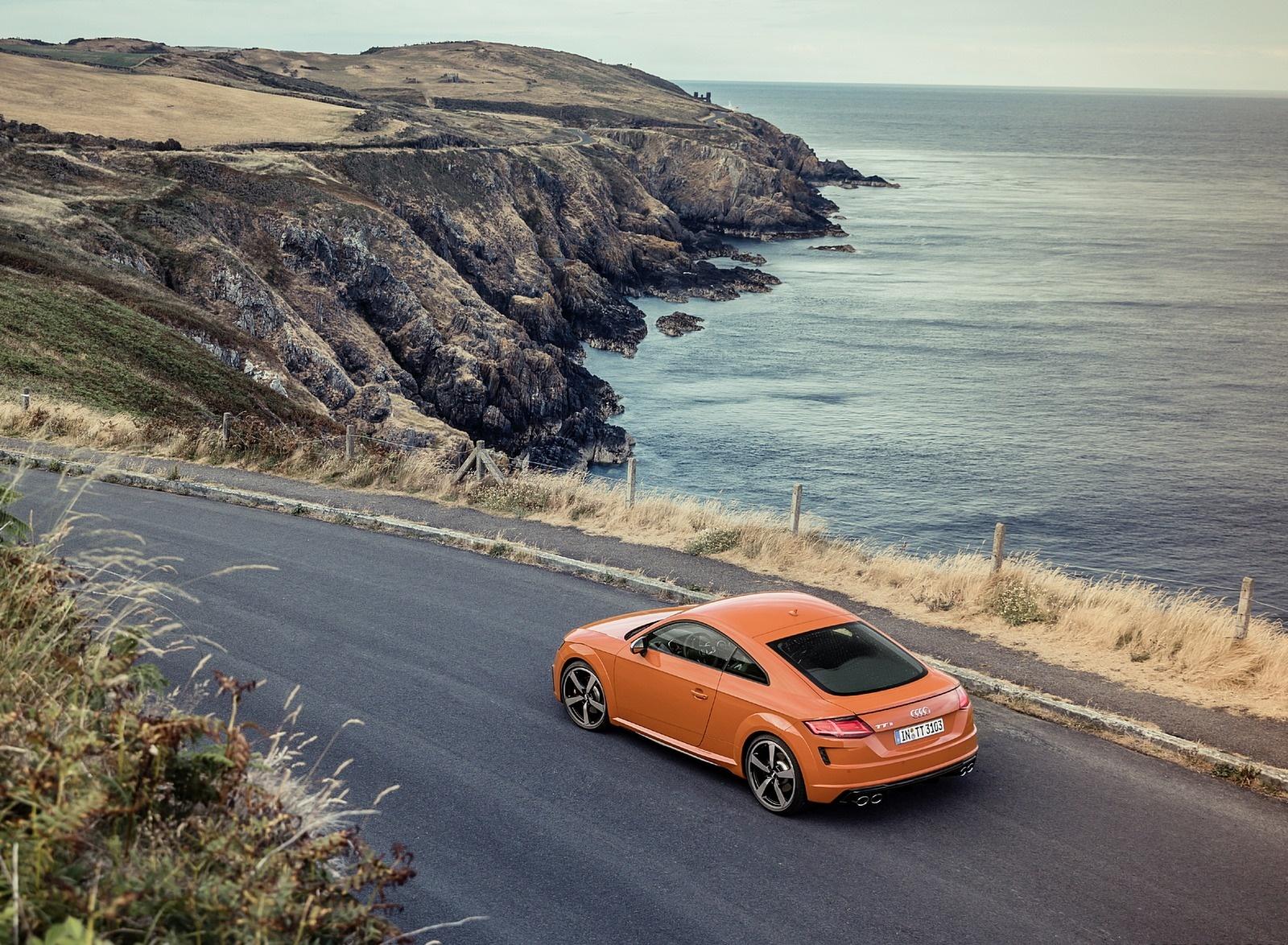 2019 Audi TTS Coupe (Color: Pulse Orange) Rear Three-Quarter Wallpaper (14)