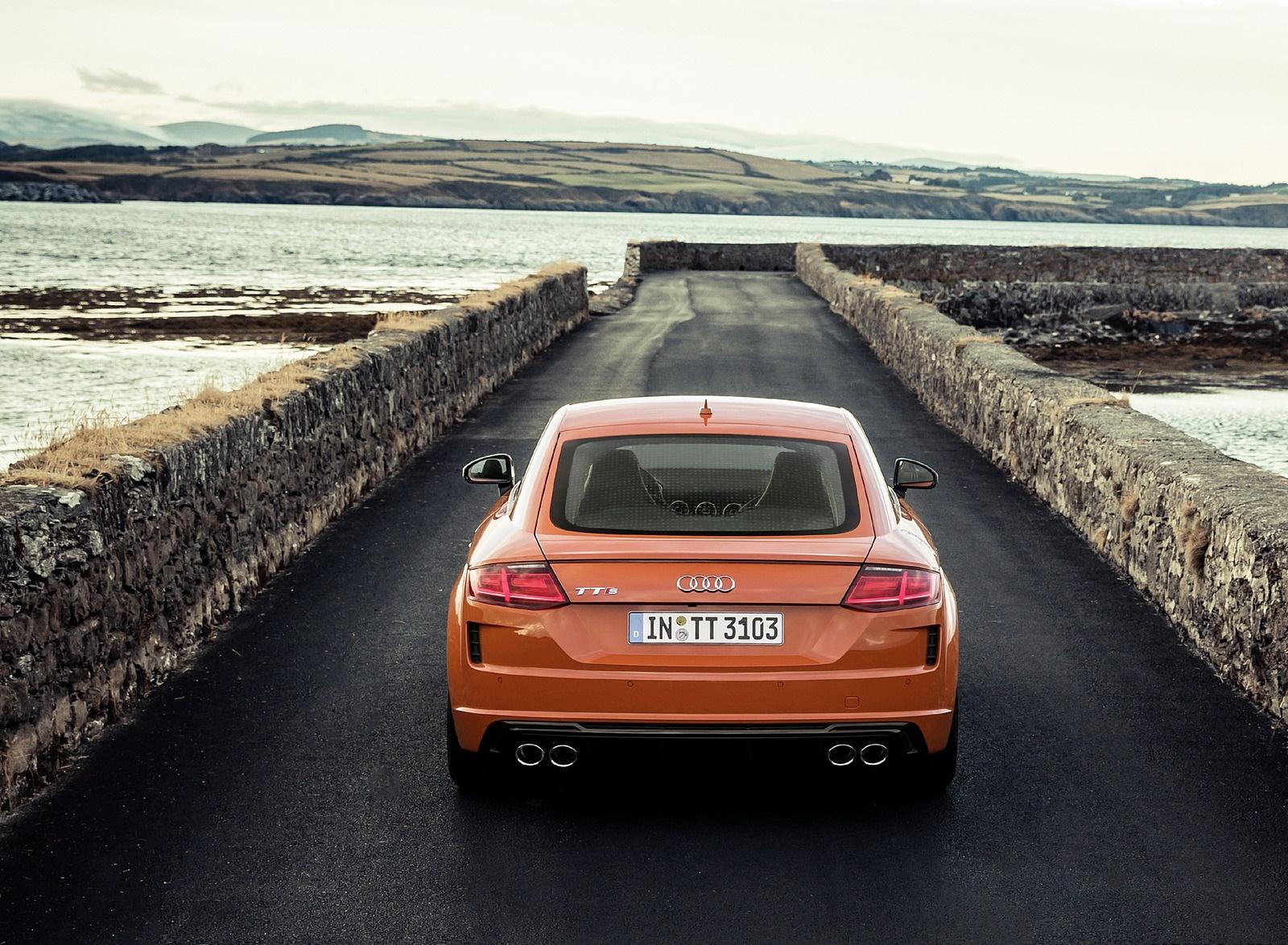 2019 Audi TTS Coupe (Color: Pulse Orange) Rear Wallpaper (15)