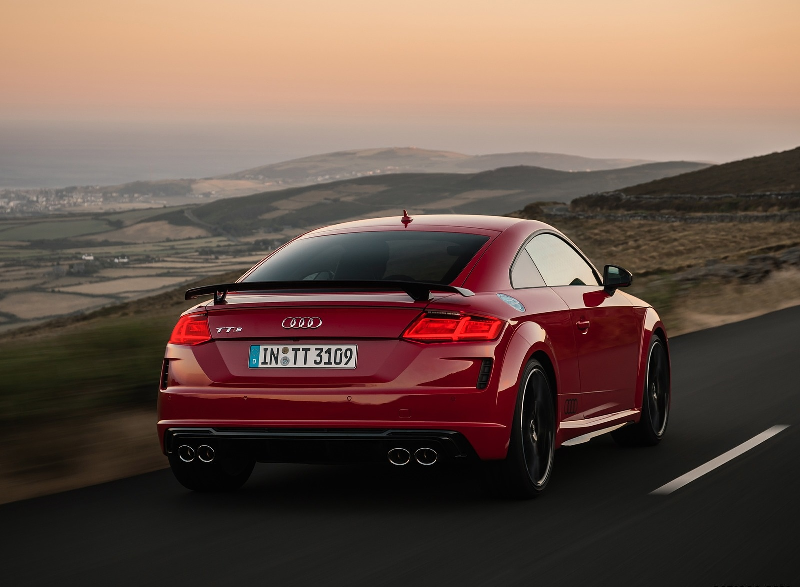 2019 Audi TTS Coupe Competition (Color: Tango Red) Rear Wallpapers (3)