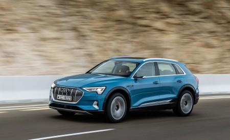 2019 Audi e-tron (Color: Antigua Blue) Front Three-Quarter Wallpaper 450x275 (55)