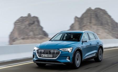 2019 Audi e-tron (Color: Antigua Blue) Front Three-Quarter Wallpaper 450x275 (64)