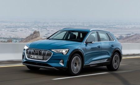 2019 Audi e-tron (Color: Antigua Blue) Front Three-Quarter Wallpaper 450x275 (65)