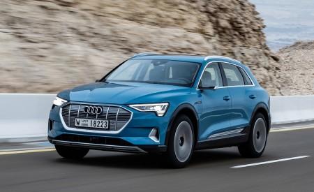 2019 Audi e-tron (Color: Antigua Blue) Front Three-Quarter Wallpaper 450x275 (67)