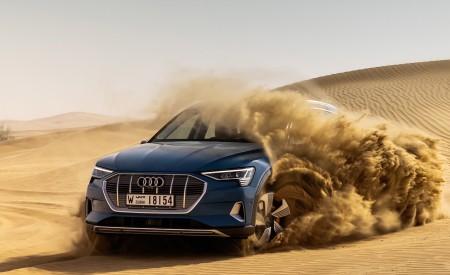 2019 Audi e-tron (Color: Antigua Blue) Front Three-Quarter Wallpaper 450x275 (79)