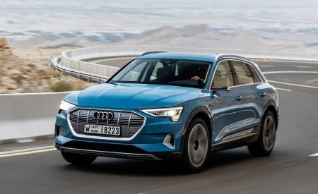2019 Audi e-tron (Color: Antigua Blue) Front Three-Quarter Wallpaper 450x275 (56)