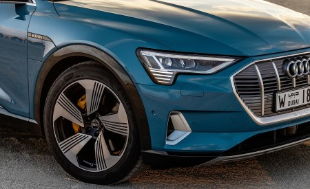 2019 Audi e-tron (Color: Antigua Blue) Headlight Wallpaper 450x275 (114)