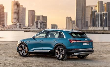 2019 Audi e-tron (Color: Antigua Blue) Rear Three-Quarter Wallpaper 450x275 (100)