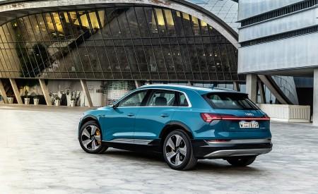 2019 Audi e-tron (Color: Antigua Blue) Rear Three-Quarter Wallpaper 450x275 (116)