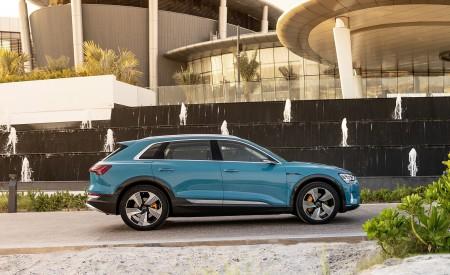 2019 Audi e-tron (Color: Antigua Blue) Side Wallpaper 450x275 (113)