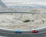 2019 Audi e-tron (Color: Antigua Blue) and Audi e-tron (Color: Catalunya Red) Side Wallpapers 150x120 (2)