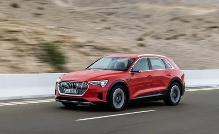 2019 Audi e-tron (Color: Catalunya Red) Front Three-Quarter Wallpaper 450x275 (3)