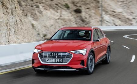 2019 Audi e-tron (Color: Catalunya Red) Front Three-Quarter Wallpaper 450x275 (16)
