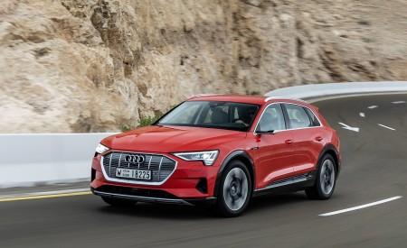 2019 Audi e-tron (Color: Catalunya Red) Front Three-Quarter Wallpaper 450x275 (4)