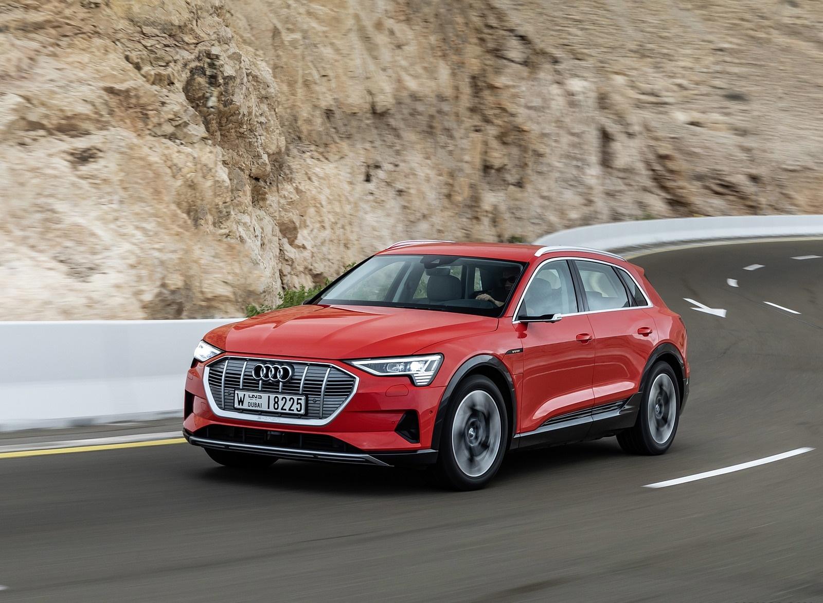 2019 Audi e-tron (Color: Catalunya Red) Front Three-Quarter Wallpapers (4)