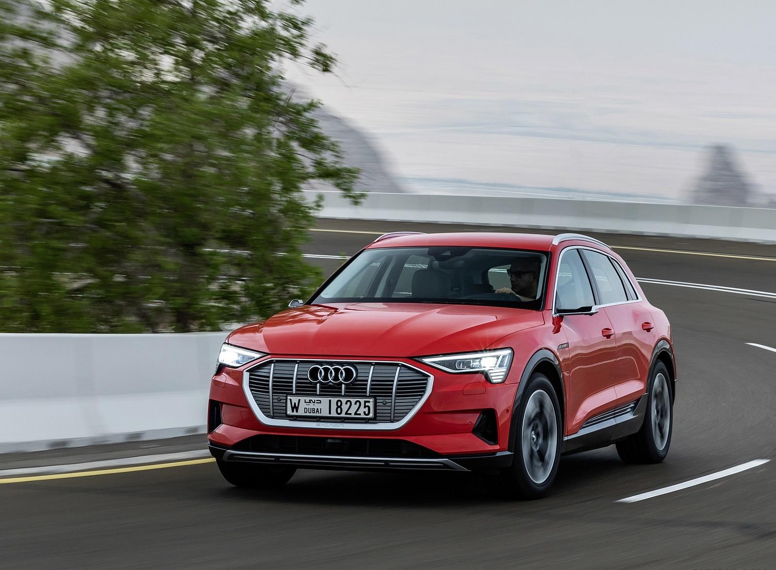2019 Audi e-tron (Color: Catalunya Red) Front Three-Quarter Wallpapers (5)