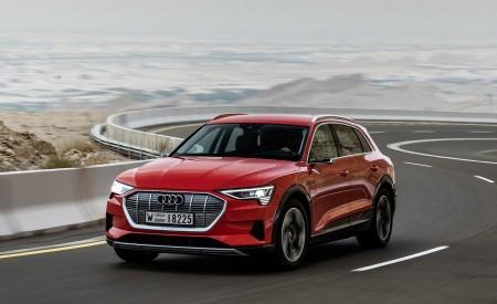 2019 Audi e-tron (Color: Catalunya Red) Front Three-Quarter Wallpaper 450x275 (6)