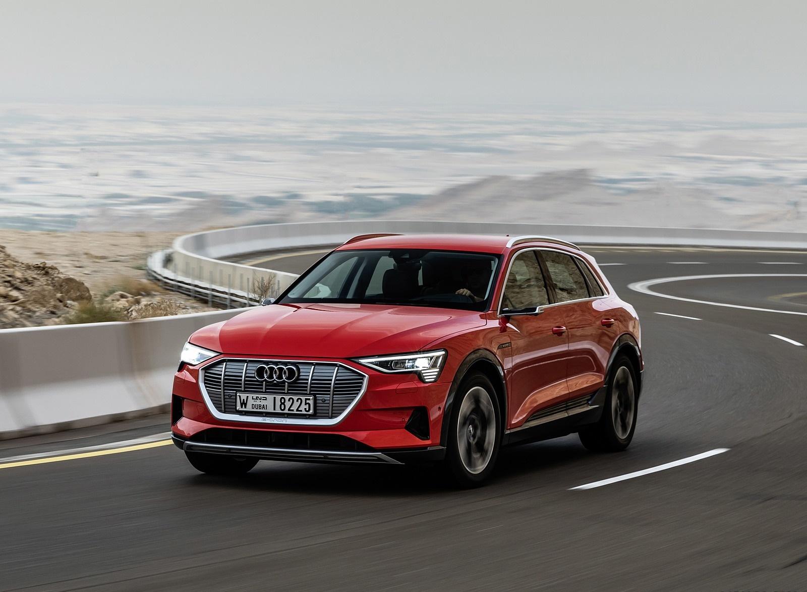 2019 Audi e-tron (Color: Catalunya Red) Front Three-Quarter Wallpapers (6)