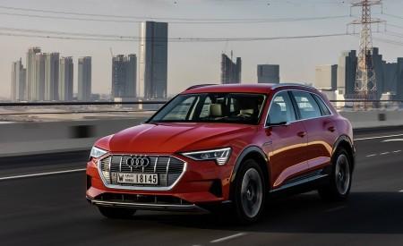 2019 Audi e-tron (Color: Catalunya Red) Front Three-Quarter Wallpaper 450x275 (27)
