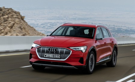 2019 Audi e-tron (Color: Catalunya Red) Front Three-Quarter Wallpaper 450x275 (7)