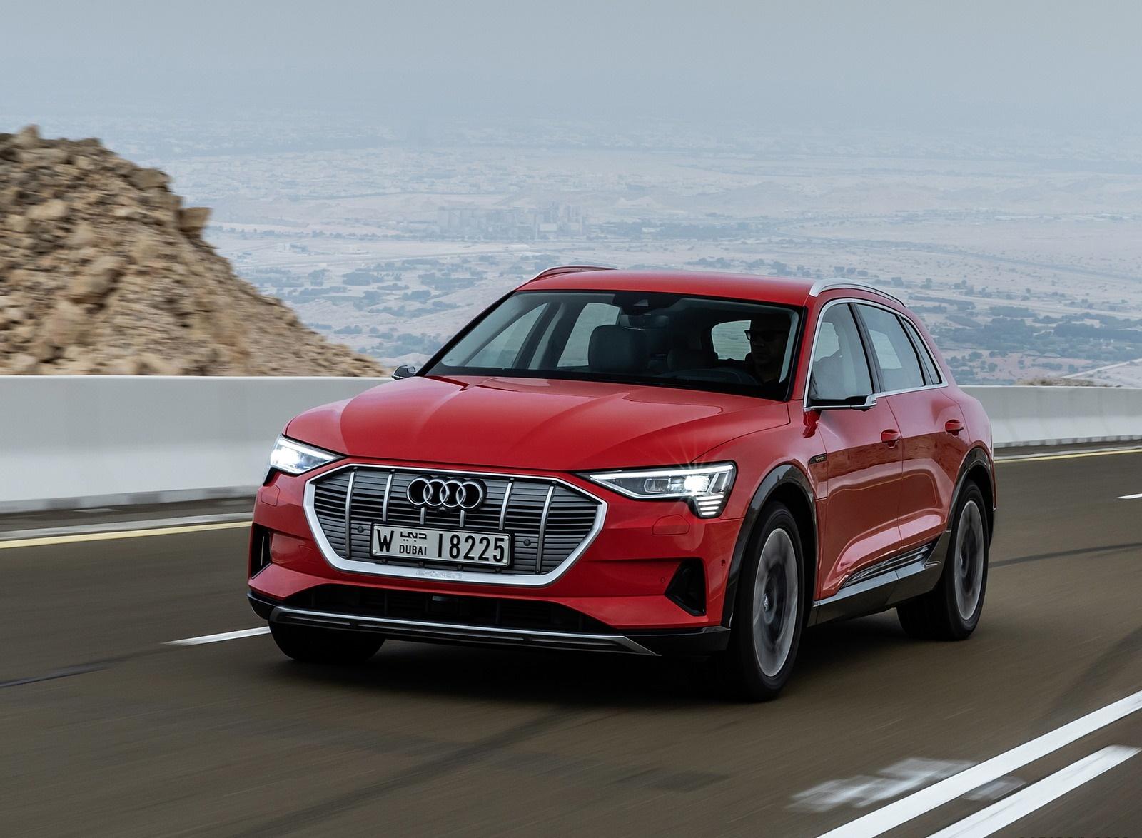 2019 Audi e-tron (Color: Catalunya Red) Front Three-Quarter Wallpapers (7)