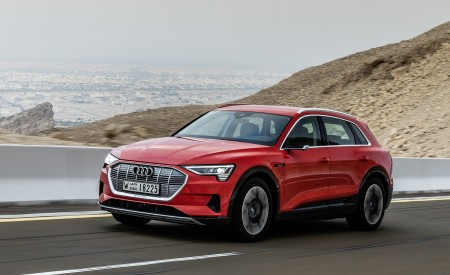 2019 Audi e-tron (Color: Catalunya Red) Front Three-Quarter Wallpaper 450x275 (8)