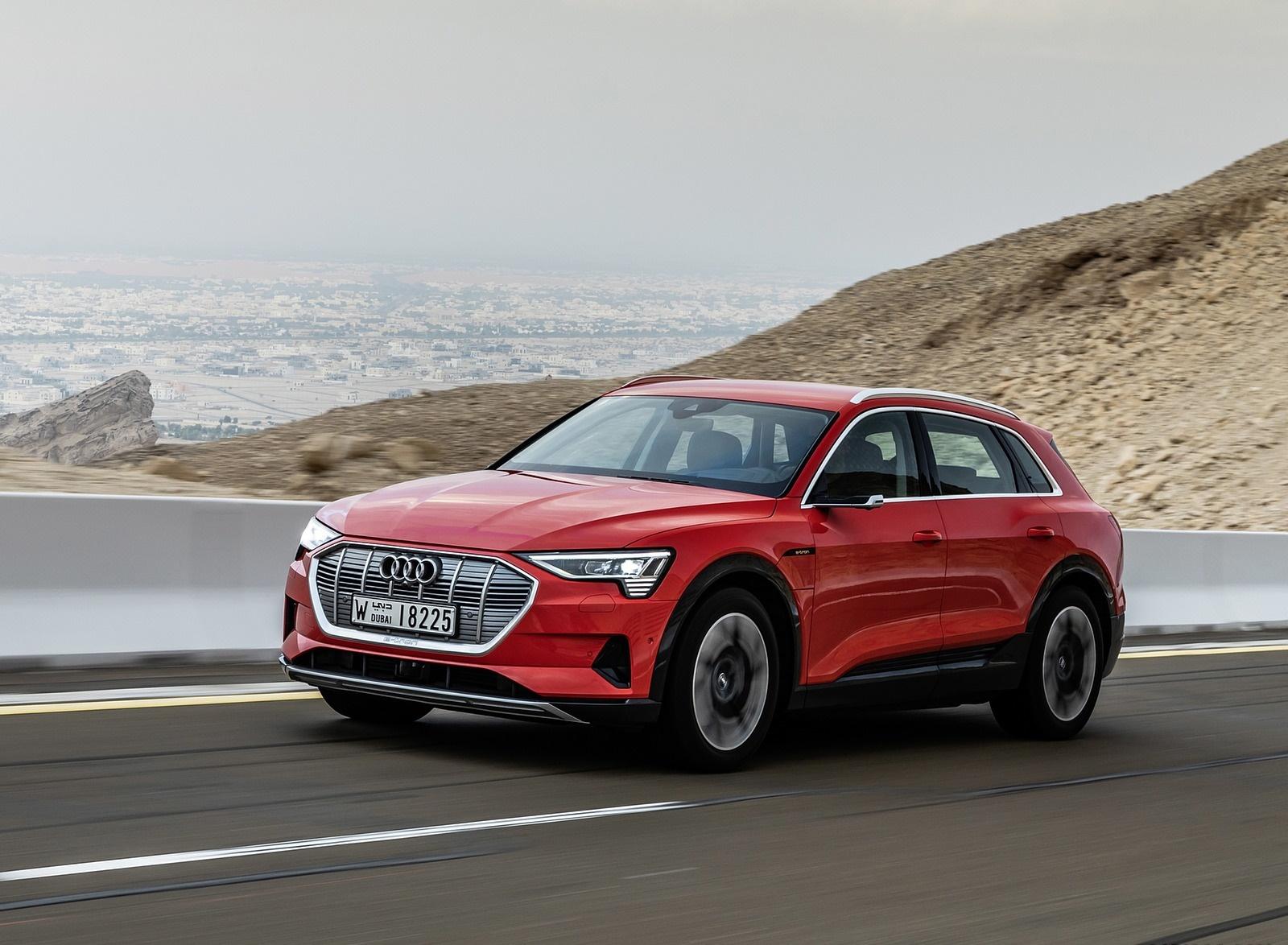 2019 Audi e-tron (Color: Catalunya Red) Front Three-Quarter Wallpapers (8)
